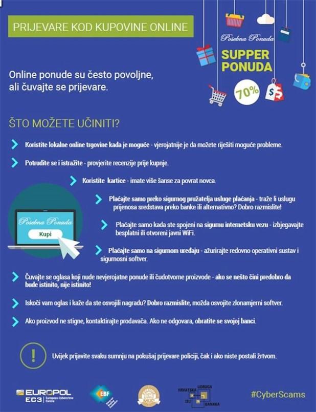 PU Istarska: Čuvajte se prijevara prilikom online kupovine povodom Crnog petka / Black Friday