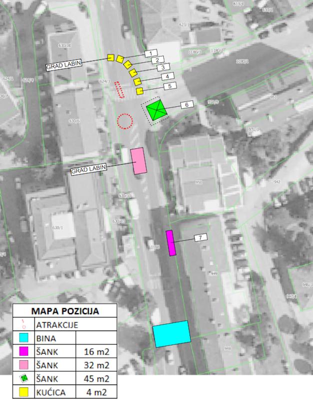 """Poziv za podnošenje pisanih ponuda za korištenje javne površine za vrijeme manifestacije """"Božić u Labinu 2018."""""""