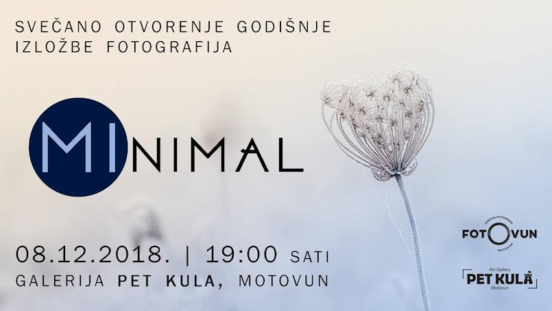 """Na godišnjoj izložbi fotografija """"MInimal"""" Udruge Fotovun izlaže i pet fotografa s područja Labinštine"""