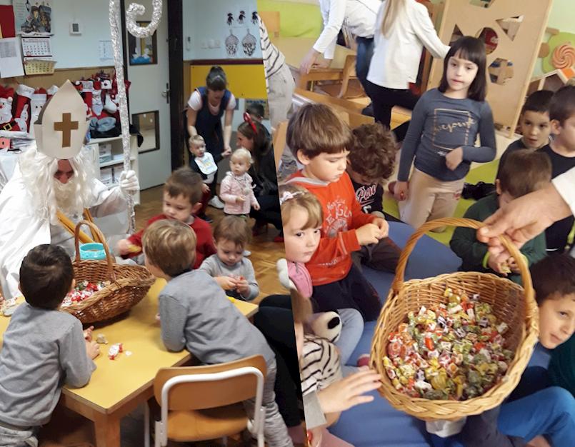 Sveti Nikola posjetio mališane kršanskog Dječjeg vrtića Kockica