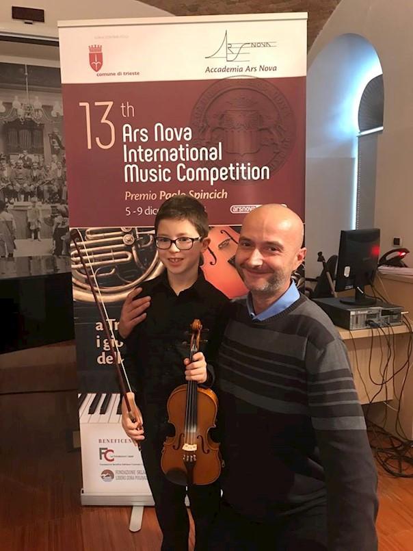Teo Buždon osvojio 3. nagradu u disciplini violina na 13. Međunarodnom natjecanju Ars nova u Trstu