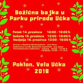 Božićna bajka u Parku prirode Učka 2018.