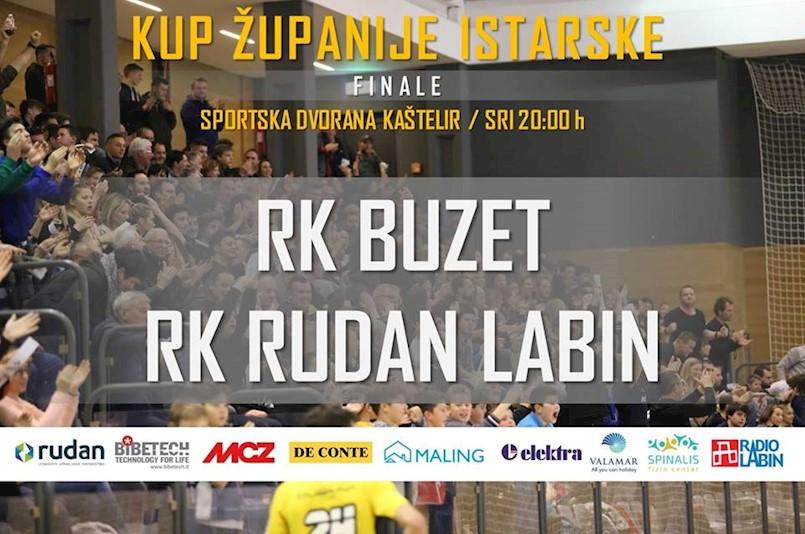 [NAJAVA] Finale kupa županije Istarske | RK Buzet : RK Rudan Labin | ŽRK Rudar iz Labina : ŽRK Umag 19. 12. 2018. u Kašteliru