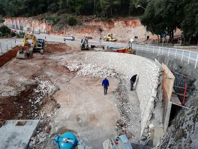 Nastavljeni radovi na izgradnji rotora na ulazu u Rabac