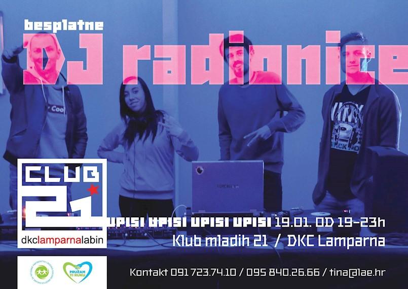 "Večeras startaju besplatne DJ Radionice Kluba mladih ""Klub 21"" DKC-a ""Lamparna"""