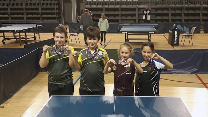Sedam medalja za mlade stolnotenisače Brovinja na Trećem otvorenom turniru Istarske županije