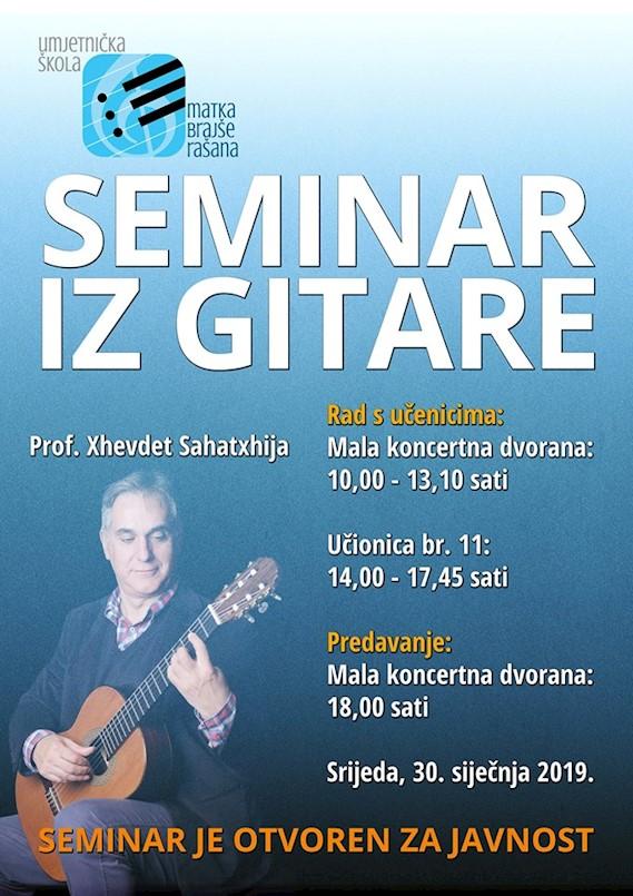 Seminar iz gitare u UŠ M.B. Rašana otvoren za javnost