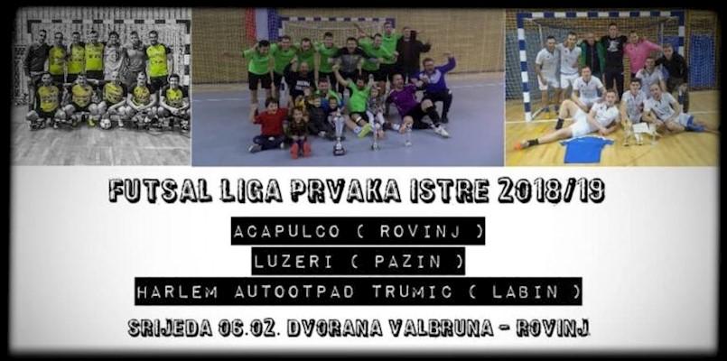 MALONOGOMETNI SPEKTAKL U NAJAVI: Rovinj ugošćuje istarsku futsal Ligu prvaka, Harlem AutoOtpad Trumić brani boje Labinštine!