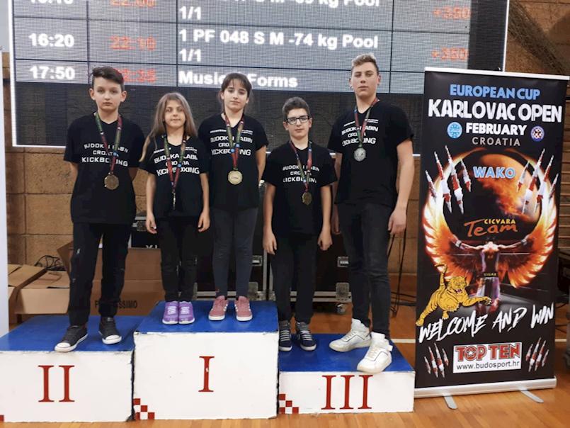 """Labinjani osvojili pet medalja na Europskom kupu u kickboxing """"Karlovac open 2019"""""""