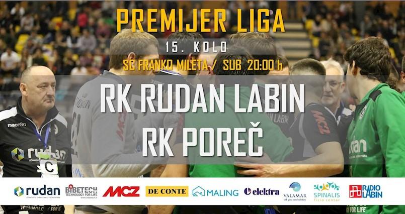 15. kolo Premijer liga: Sutra u Labinu Istarski derbi RK Rudan Labin i RK Poreč