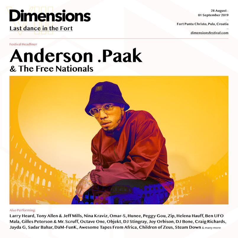 Anderson .Paak, rap izvođač godine i njegov bend The Free Nationals otvaraju Dimensions festival u Areni!