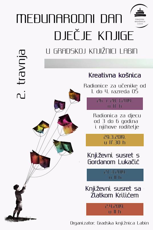 Književni susreti i radionice u Gradskoj knjižnici Labin povodom Međunarodnog dana dječje knjige