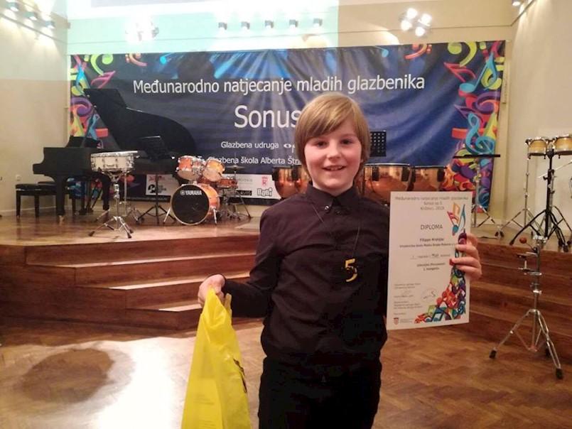 Filippo Kranjac pobjednik na Međunarodnom natjecanju mladih glazbenika u Križevcima
