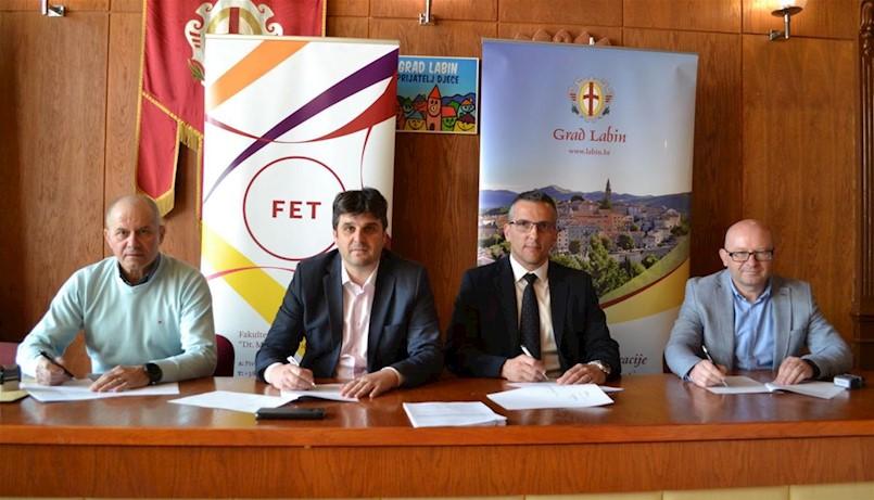 Grad Labin i gradska društva potpisali Sporazum o suradnji sa Sveučilištem Jurja Dobrile