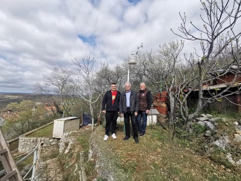 Labin ponovno ima 3 meteorološke postaje: Obnovljena mjerenja u Ripendi Vicani