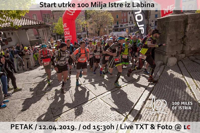 Danas iz Labina starta najveća trail utrka u Hrvatskoj 100 Milja Istre
