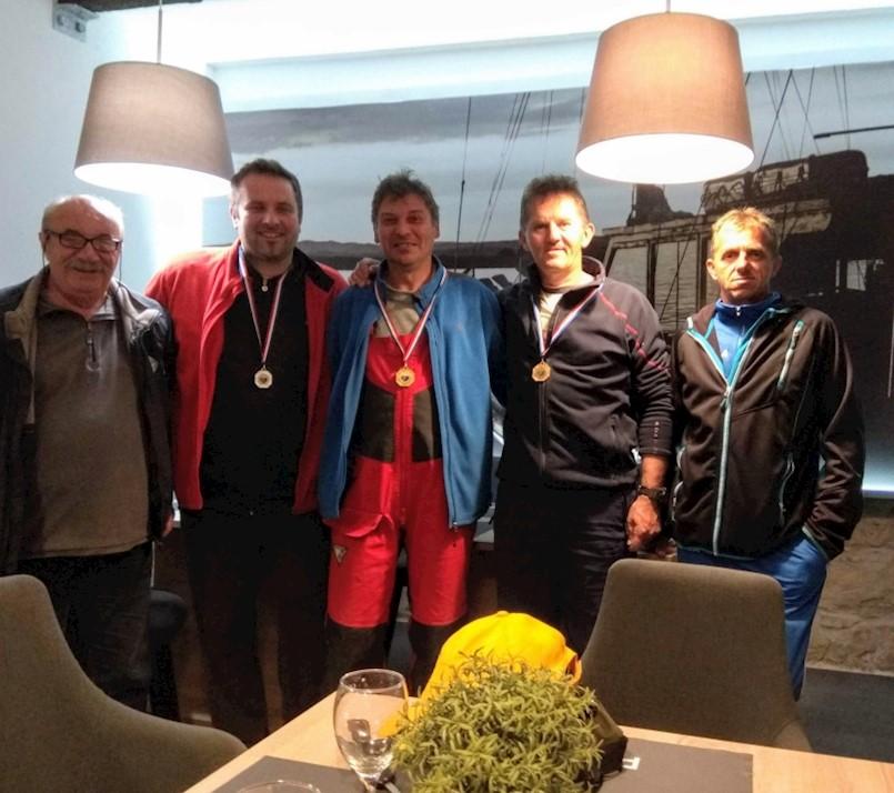 Mihael Petrović, Višnjica Bakija i Elvis Barak, najuspješniji ribolovci Plomina
