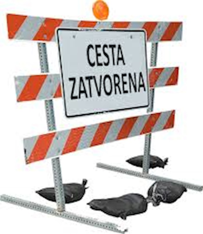 Obavijest o zatvaranju dijela ceste Pustić - Zartinj