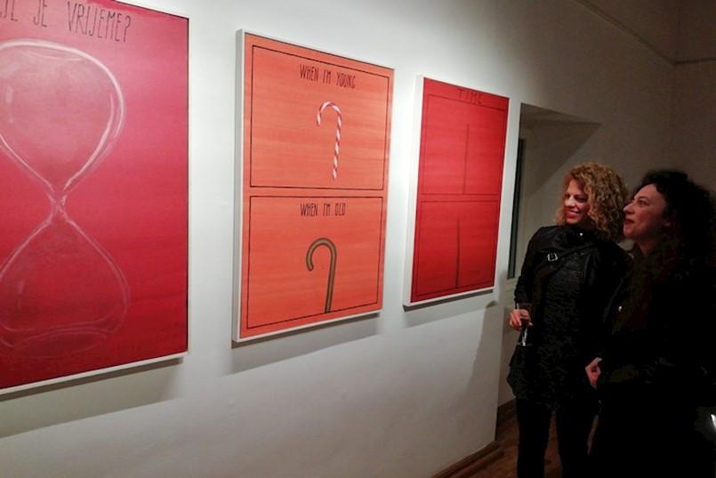 U GRADSKOJ GALERIJI LABIN otvorene samostalne izložbe Natalije Škalić i Ivana Tudeka