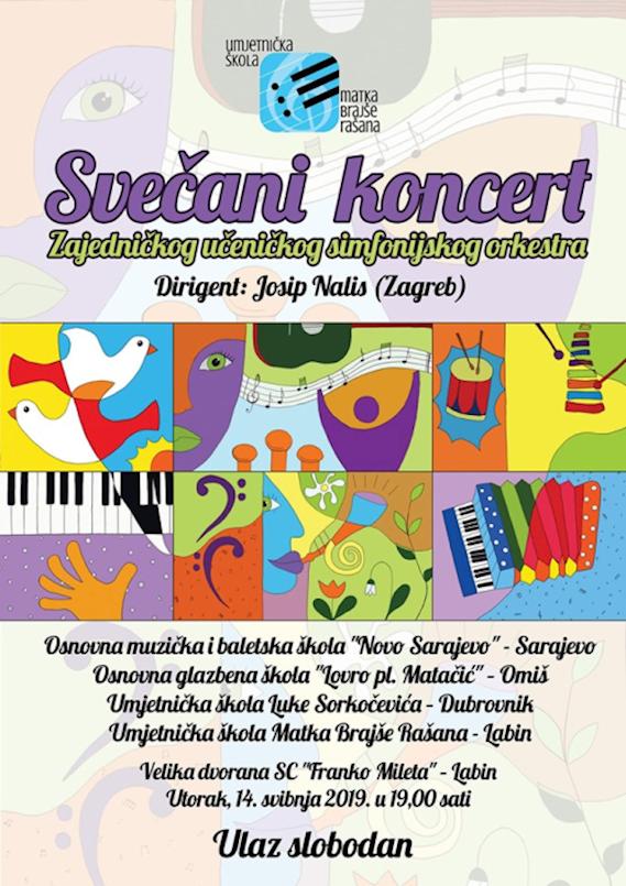 [NAJAVA] Glazba bez granica 14. svibnja 2019. u SC Franko Mileta Labin