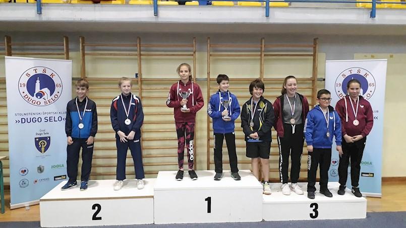 Srebro i bronca za Lea Bernaza na Prvenstvu Hrvatske u stolnom tenisu za najmlađe kadete