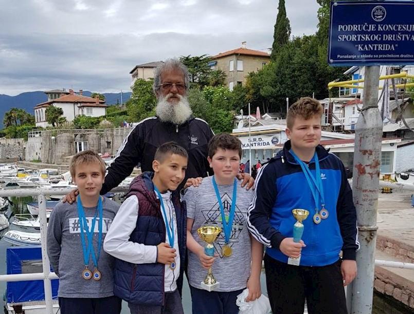 Velik uspjeh mladih ribolovaca SRD Galeba na 3. kupu Veljko Banković na Kantridi