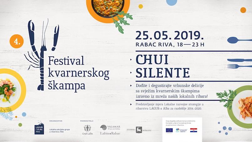 [NAJAVA] 4. Festival kvarnerskog škampa 25. svibnja u Rapcu uz nastup bendova Chui i Silente