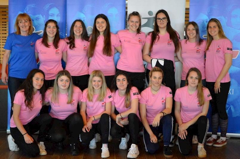 Djevojke i mladići Školskog sportskog društva Duga u završnici Državnog prvenstva u rukometu