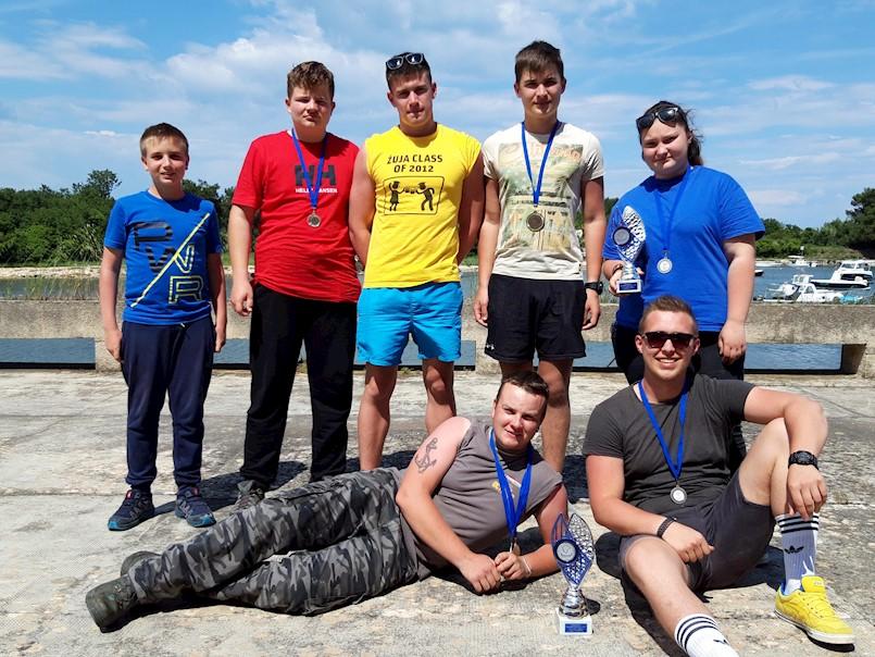 Odlični rezultati ribiča Galeba iz Raše na prvenstvu Istarske županije za kategoriju U16 i U21 štap obala