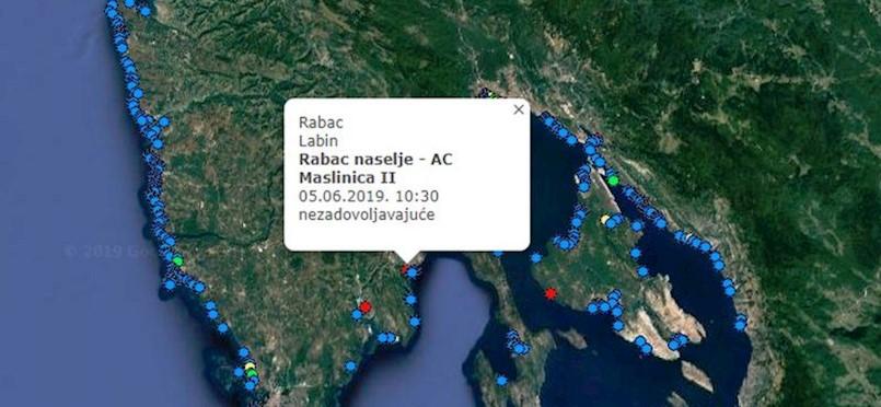 Na čak 4 lokacije na području Labinštine nezadovoljavajuća kvaliteta mora