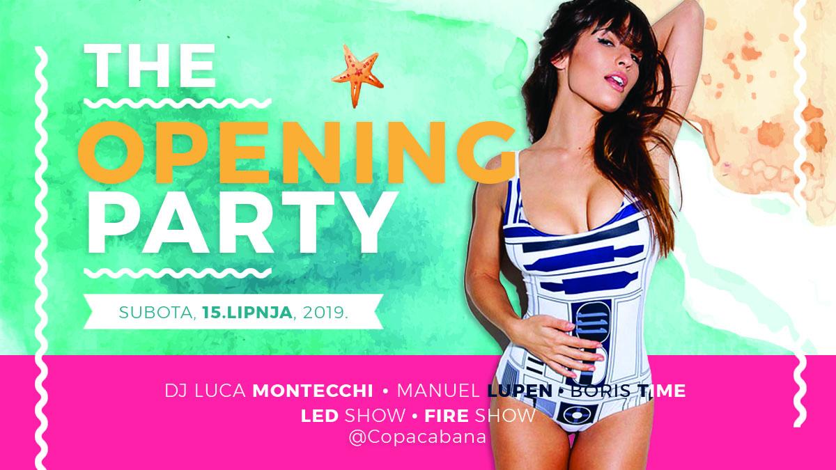 Opening Season 2019 // Beach bar Copacabana // Plomin Luka