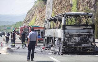 U potpunosti izgorio autobus koji je s djecom trebao stići u Labin