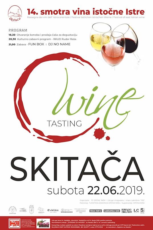 """[NAJAVA] 14. Smotra vina istočne Istre """"Skitača 2019."""" 22. lipnja 2019. godine"""