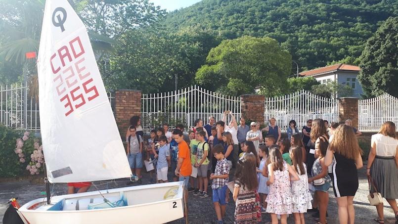 Prezentacija jedrenja u Osnovnoj školi Ivana Batelića u Raši