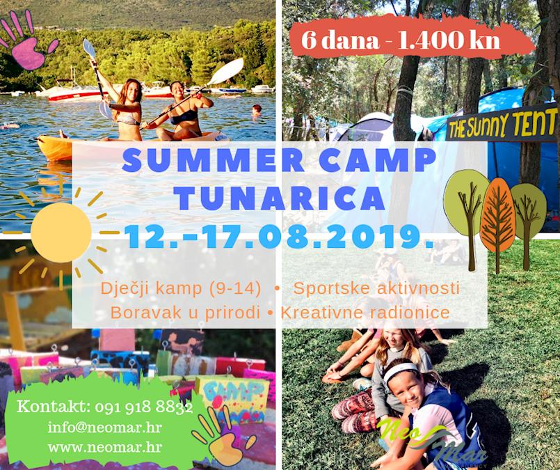 Dječji kamp Tunarica od 12. do 17. kolovoza 2019.