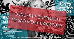 Koncert Róisín Murphy otkazan za Subotu 03.08.2019. radi vremenskih neprilika