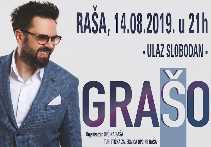 "Zvijezda na ""Raškoj noći"":  Večeras u Raši besplatan koncert Petra Graše"
