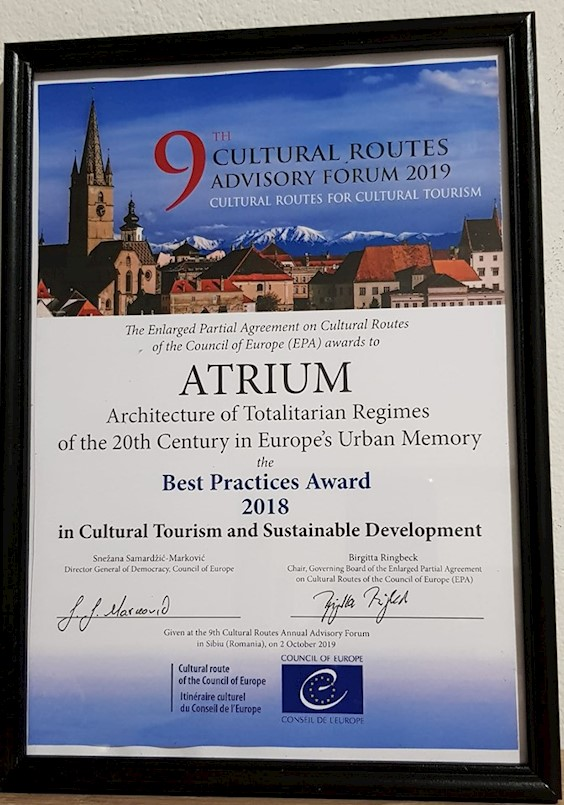 ATRIUM-u nagrada Vijeća Europe