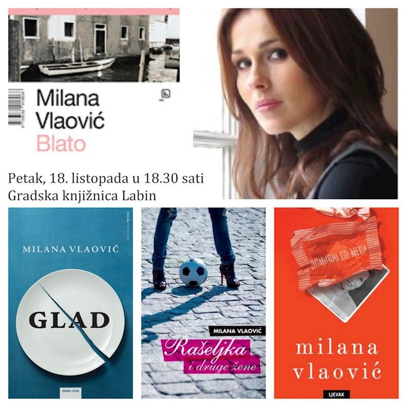Književni susret s Milanom Vlaović Kovaček u Gradskoj knjižnici Labin u petak 18. listopada 2019. godine