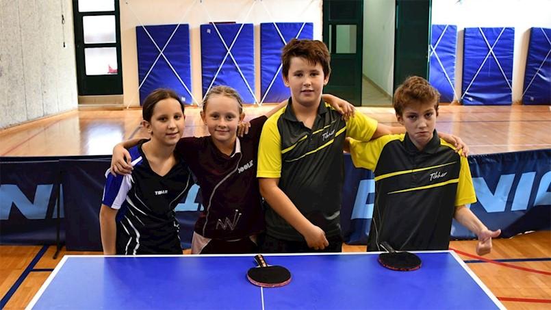 Na prvom otvorenom turniru PIG regije mladi stolnotenisači Brovinja osvojili su zlato, srebro i broncu