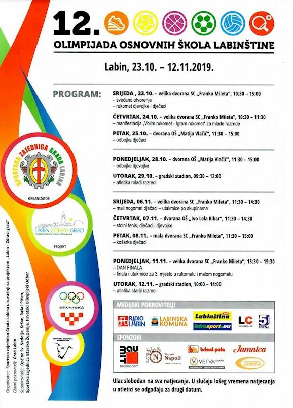 [OBAVIJEST] Zbog štrajka 12. Olimpijada osnovnih škola Labinštine odgođena za petak