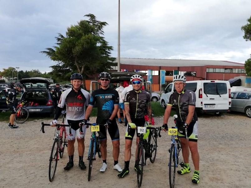 I labinski biciklisti na biciklističkoj utrci Istra Gran Fondo