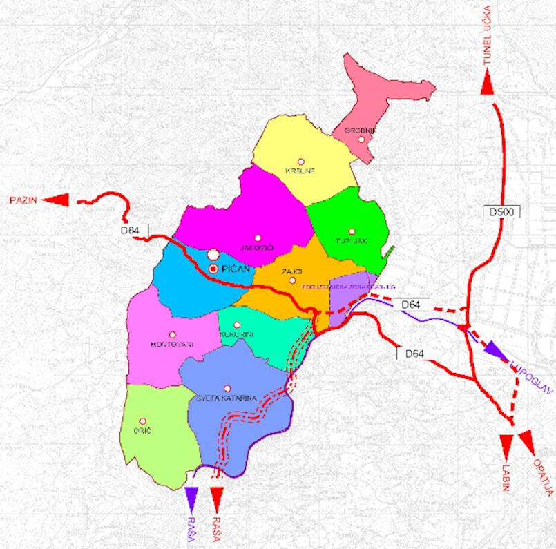 """[OBAVIJEST] Javna rasprava o prijedlogu Urbanističkog plana uređenja """"Poduzetničke zone Pićan jug"""" od 04. studenoga do 04. prosinca 2019. godine"""