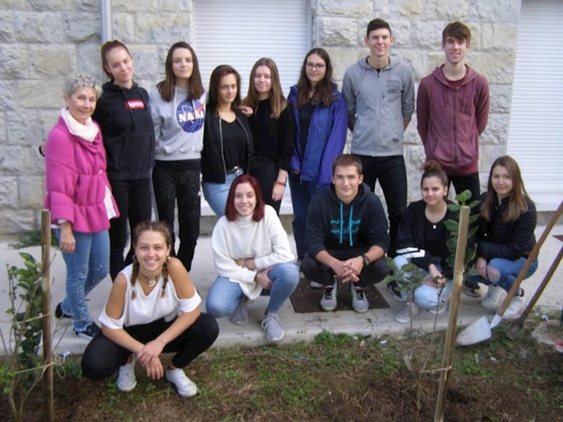 Učenici labinske Srednje škole priključili se kolektivnoj sadnji drveća