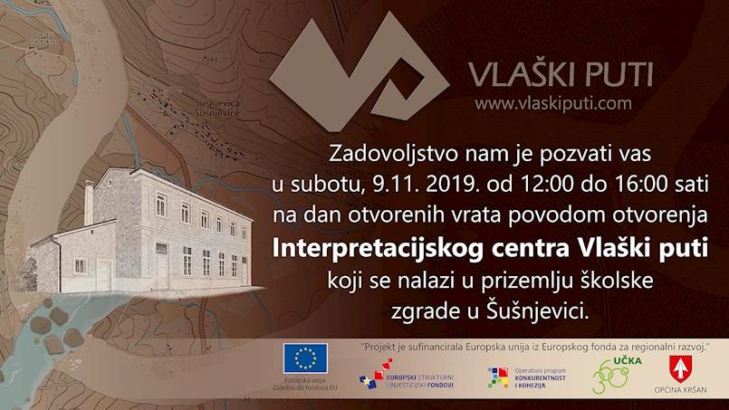 Dan otvorenih vrata interpretacijskog centra Vlaški puti u petak 8. studenog 2019. godine
