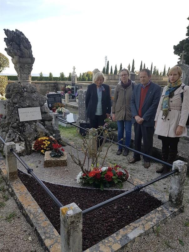 Položeno cvijeće povodom godišnjice smrti Giuseppine Martinuzzi