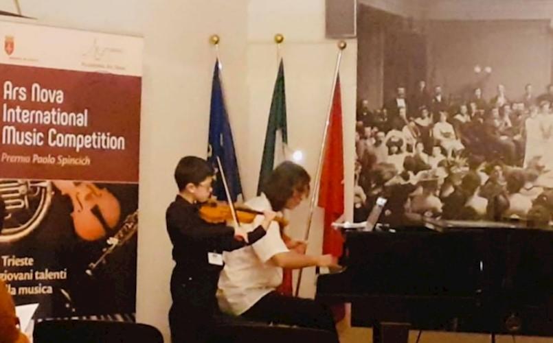 Mladi violinist Teo Buždon osvojio drugu nagradu na međunarodnom natjecanju ''Ars Nova'' u Trstu