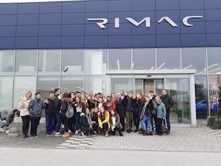 Ekonomisti Srednje škole Mate Blažine posjetili Tvrtku Rimac automobili