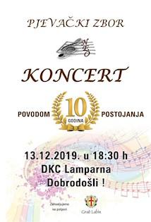 Koncert povodom 10 godina djelovanja zbora NEO @ petak 13.prosinca u DKC Lamparna