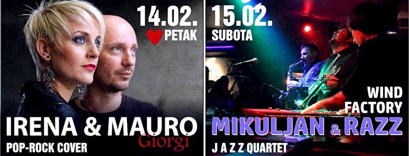 [NAJAVA] Vikend zaljubljenih uz Irenu i Maura Giorgi te jazz koncert u labinskom Rock Caffeu